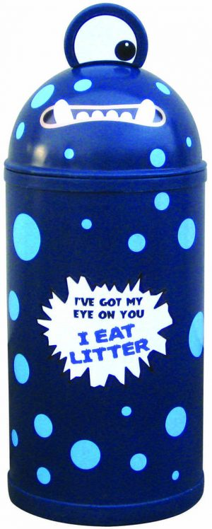 Monster Litter Bins Primary Education Playground Classroom Dark Blue