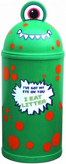 Monster Litter Bins Primary Education Green