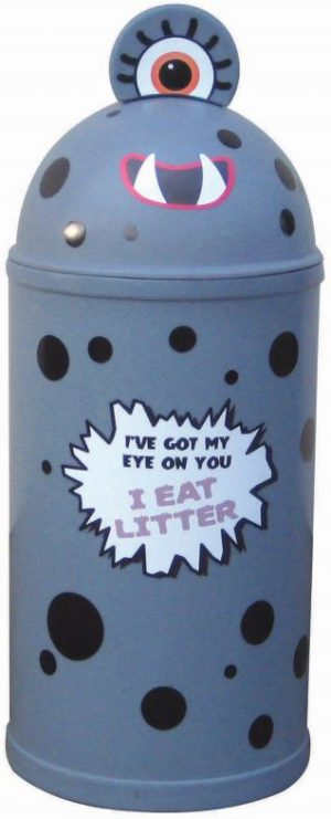 Monster Litter Bins Primary Education Playground Classroom Grey