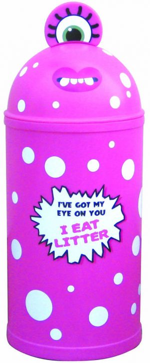 Monster Litter Bins Primary Education Playground Classroom Pink