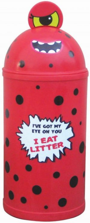 Monster Litter Bins Primary Education Playground Classroom Red