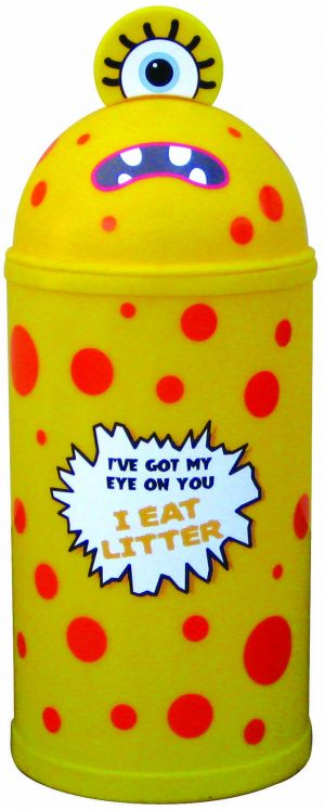 Monster Litter Bins Primary Education Playground Classroom Yellow