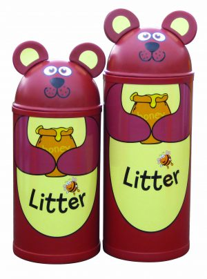 Bear – Primary Education Playground-Classroom Animal Litter Bins