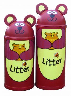 Bear – Primary Education Playground-Classroom Animal Litter Bins