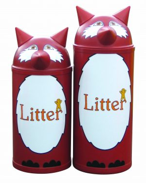 Fox – Primary Education Playground-Classroom Animal Litter Bins