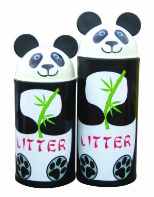 Panda – Primary Education Playground-Classroom Animal Litter Bins