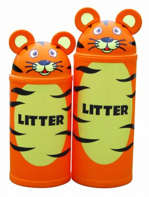 Tiger – Primary Education Classroom-Playground Animal Litter Bins