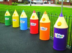 Midi Pencil Playground Litter Bin Litter Letters Various Colours 52 litre