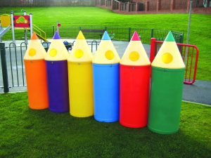 Micro Pencil Playground Litter Bin Various Colours 42 litre
