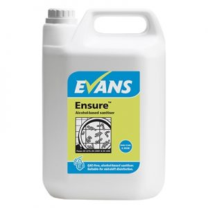 Evans Vanodine Ensure Alcohol Based Sanitiser 5 litre
