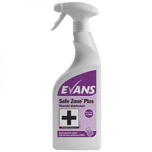Evans Safe Zone™ Plus Virucidal disinfectant 6 x 750 ml